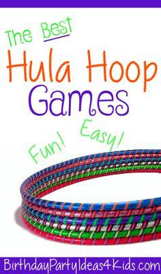 Hula Hoop party games