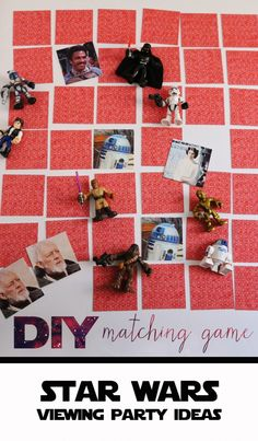 Test your guests memory and Star Wars expertise with a fun DIY matching/memory game. This can serve as a fun pre-show activity before the Star Wars Digital Movie Collection screening begins!