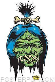 Dirty Donny Shrunken Head Sticker Image