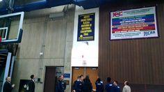 The RVC men's basketball team reveal their NJCAA championship banner! 11/4/14