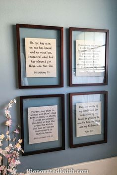 Floating Frames with Easy Wall Art – How to make free Scripture printables. Thi… Floating Frames with Easy Wall Art – How to make free Scripture printables. This DIY decor is great for the bedroom, kitchen, or living room and… Continue Reading → Floating Picture Frames, Floating Frame, Diy Picture Frames On The Wall, Decorating With Picture Frames, Wall Decor Frames, Frame Decoration, Picture Frame Decor, Letter Wall Decor, Hanging Picture Frames
