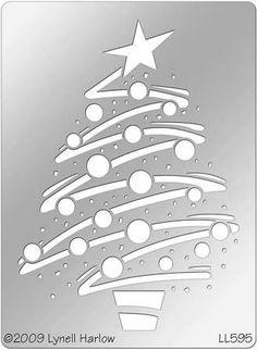 zigzag christmas tree stencil