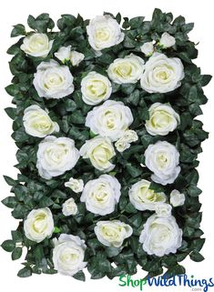 4pcs Removable Artificial Flower Wall Panel Wedding Photography Props Cream