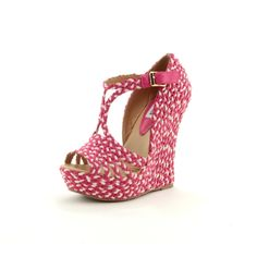 Pink wedge by steve madden <3