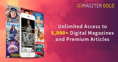 "Magzter GOLD, the ""All you can read"" subscription, gives you unlimited access to magazines and premium stories. Enjoy reading them on iPad, iPhone, Android devices and the web. All You Can, As You Like, Free Subscriptions, Music Photo, Digital Magazine, Art Music, Trials, Photo Book, 1 Month"