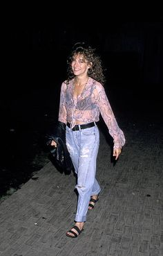 View and license Jennifer Grey pictures & news photos from Getty Images. 80s And 90s Fashion, Grey Fashion, Retro Fashion, 90s Outfit, Grey Outfit, 90s Grunge Hair, Jennifer Grey, Really Cute Outfits, Gray Aesthetic