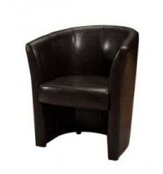 fauteuil cuir simili coloris marron