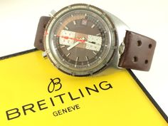 BREITLING Sprint 2010 Chronograph - Rare Triangle Silver Dial - 7730 Mechanical vintage 1970's