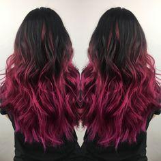 Mermaid hair, brunette hair color ideas, pink hair, magenta hair, pulpriot hair, pink ombré, magenta balayage, dark hair ideas, 2017 summer hair color #hairbytasha