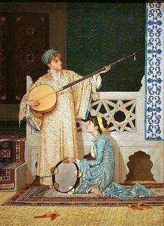 عثمان حمدي بيك يعتبر من رواد التشكيليين الأتراك ومؤسس المتاحف في تركيا .. من لوحاته
