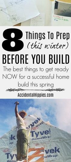 If you plan to build your own home by hand there are 8 things you need to prep NOW in the winter before building this spring Build Your Own House, Winter House, Camping Survival, Sculpture, Home Improvement Projects, Farm Life, Country Life, Home Renovation, Homesteading