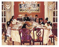 Black Love Art - Together We Give Thanks - Katherine Roundtree