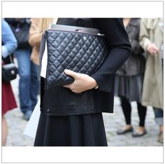 PFW spotting: The Rolls Royce of laptop cases. From Chanel… www.instagram.com/elinklingdotcom