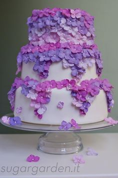 Hydrangea cake...by ....sugar garden.it