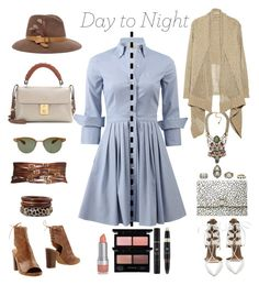 """""""Day to Night: Shirt Dress"""" by beachan on Polyvore"""