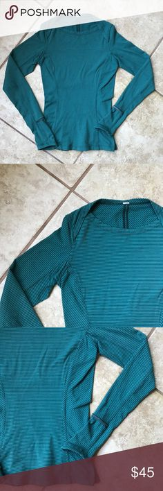 Luluelemon women's long sleeve runner top Women's / EUC / size 2 / runners long sleeve top / thick cotton / for night run / secret pouch / great condition no fade no rips a no stains lululemon athletica Tops Tees - Long Sleeve