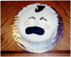 Crying Baby Face Cake