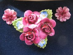 coalport china brooch