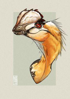 Dilophosaurus by CamaraSketch on DeviantArt Dinosaur Sketch, Dinosaur Drawing, Dinosaur Art, Prehistoric Wildlife, Prehistoric Creatures, Creature Concept Art, Creature Design, Extinct Animals, Fantasy Creatures