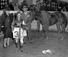 1946: Assault - Assault won the first leg of his eventual Triple Crown in 1946. He won the Derby by the eight lengths.