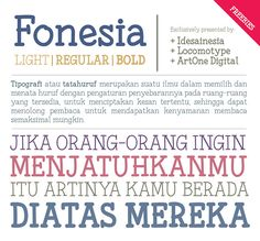 Free Font Of The Day : Fonesia