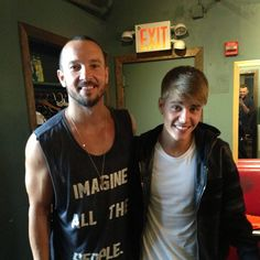 Hillsong NYC church pastor Carl Lentz is seen with recording artist and friend Justin Bieber in a photo shared by Pastor Judah Smith on Inst.... Justin Bieber Baptism
