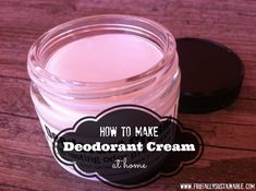 How to Make Deodorant Cream