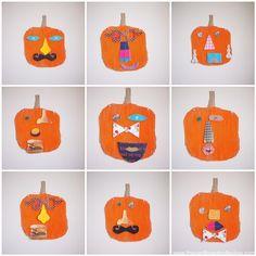 Mr. Pumpkin head. Stick-it-yourself corrugation trumps velcro!!!! Amber is brilliant with cardboard!!!!!