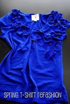 Tee Shirt Refashion by rosemarie