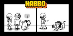 """""""Have a scratch, he doesn't bite..."""" WOW what a monster! http://www.habbo.com"""