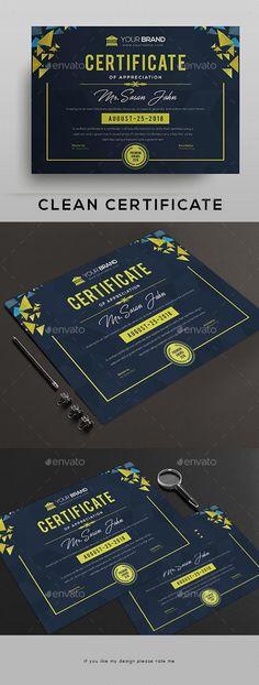 Zertifikat für 3 US-Dollar – Envato Market - Christmas Deesserts Certificate Layout, Certificate Design Template, Banner Design, Layout Design, Print Design, Graphic Design, Envato Market, Star Students, Certificate Of Appreciation