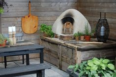 Pizza oven from the Art of Doing Stuff.  Excellent blog! Great ideas, very doable projects, throughly explained.  Soooo funny too!