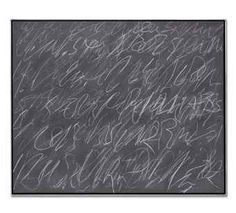 Cy Twombly, Untitled (New York City), 1970.COURTESY CHRISTIE'S