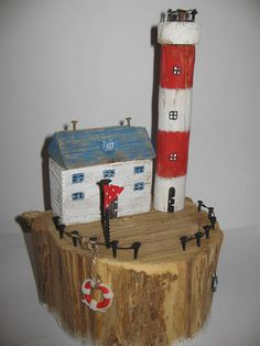 Driftwood Art Unique Gift The Lighthouse