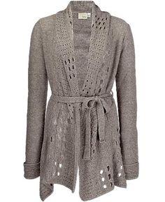 Daytrip Pointelle Trim Cardigan Sweater   $36.50