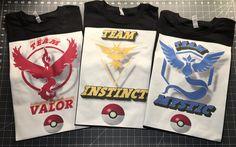 Pokemon Go T shirt Team Valor Team Mystic Team Instinct, Unique Pokemon T-shirts