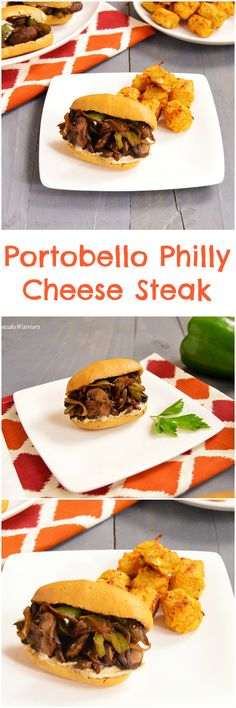 "Portobello Mushroom Philly ""Cheese steak"". This healthy recipe is vegan and gluten free!"
