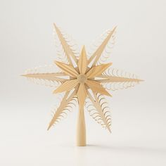 Wooden Folk Art Tree Topper