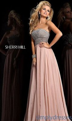 Full Length Strapless Gown. Beautiful. <3