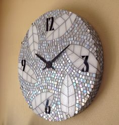"Pieces of Time Mosaic Clock, 2' diameter, 3"" thick"