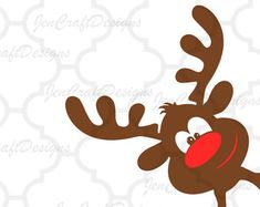 This peeping reindeer window sticker is perfect to create a magical theme to your decor this Christmas.Brown reindeer with red - Salvabrani Halloween Crafts For Kids, Christmas Crafts, Xmas, Diy And Crafts, Paper Crafts, Christmas Window Decorations, Bird Houses Painted, Cricut, Christmas Animals