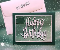 I'm a Stampin' Up! Demonstrator sharing creative projects and stamping techniques to inspire you in card making, memory keeping, and paper crafting of all kinds. Making Greeting Cards, Birthday Greeting Cards, Happy Birthday Cards, Greeting Cards Handmade, Birthday Greetings, Birthday Wishes, Homemade Birthday Cards, Birthday Cards For Women, Happy Birthday Gorgeous