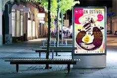 Open Estival #2 - affiche on Behance  graphiste illustratrice Devred Clara
