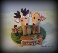 Wedding Cake Topper personnalisé Cake par trinasclaycreations