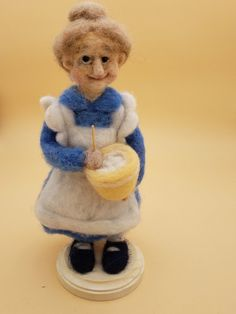 Needle Felted Cooking Grandmother