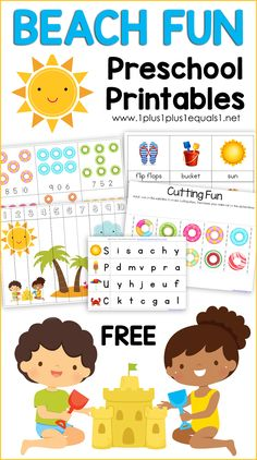 Beach Fun Preschool Printables you glad it's almost summer printable tag you glad it's summer printable you glad it's summer printable tags printables printables for preschoolers printables free Preschool Curriculum Free, Preschool Lesson Plans, Free Preschool, Preschool Printables, Preschool Classroom, Preschool Worksheets, Preschool Learning, Preschool Activities, Water Activities