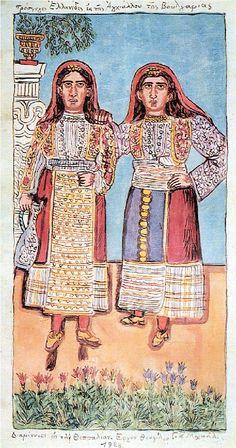 Contemporary Decorative Art, Greek Paintings, Greek Culture, 10 Picture, Naive Art, Folk Costume, Conceptual Art, Flower Art, Printmaking