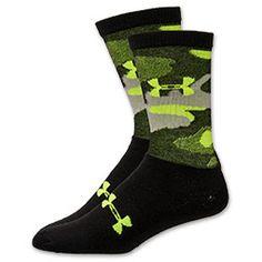 Men's Under Armour Camo Crew Socks | FinishLine.com | Black/Yellow