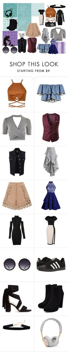 """Mood Board"" by cierratpink on Polyvore featuring HUISHAN ZHANG, Topshop, LE3NO, Zimmermann, self-portrait, Versus, Alice + Olivia, adidas and B&O Play"