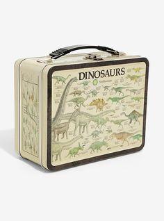 Dinosaur Embossed Metal Lunch Box, , hi-res Vintage Lunch Boxes, Cool Lunch Boxes, Metal Lunch Box, Pokemon, School Lunch Box, School Daze, Nerdy, Gifts, Skeletons